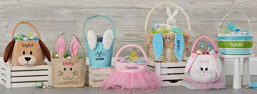 GirlBoy Easter Gift Basket Tote Bags. Custom Easter Party Favor Chick Easter Bag Easter Gift Idea Personalized Easter Basket Tote Bag