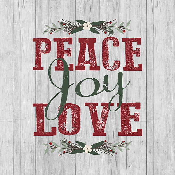 Canvas Shopping Tote Bag Peace Love Joy Holidays and Occasions Christmas Occasion Beach for Women