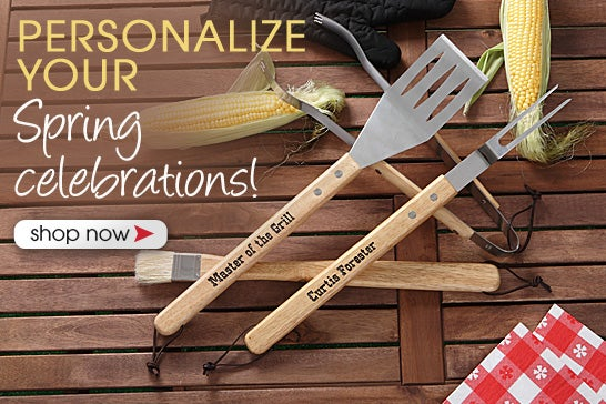 Barbeque Master Personalized 4-Piece Utensil Set
