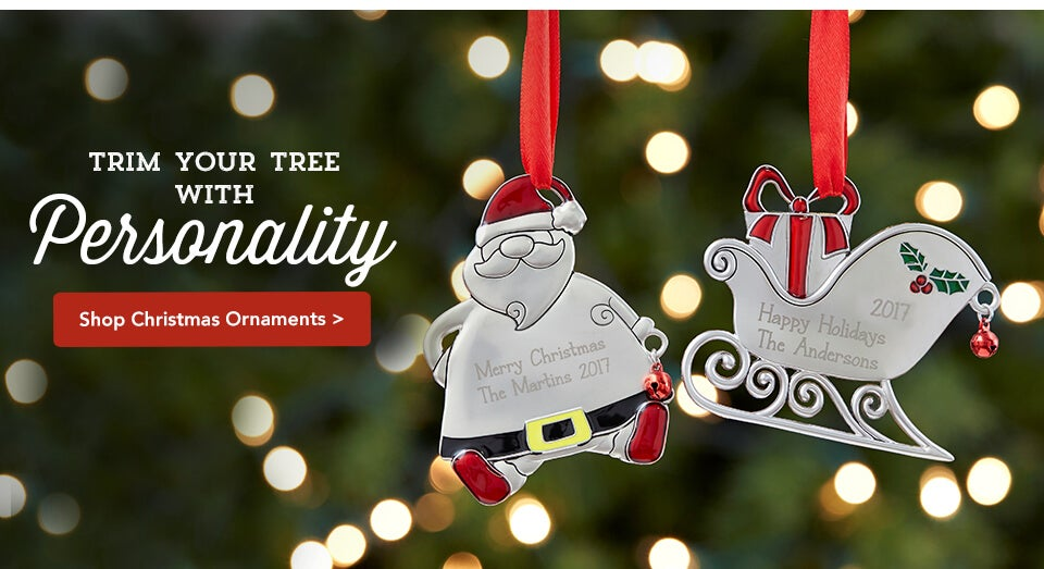 mall personalization personalized gifts ornaments christmas
