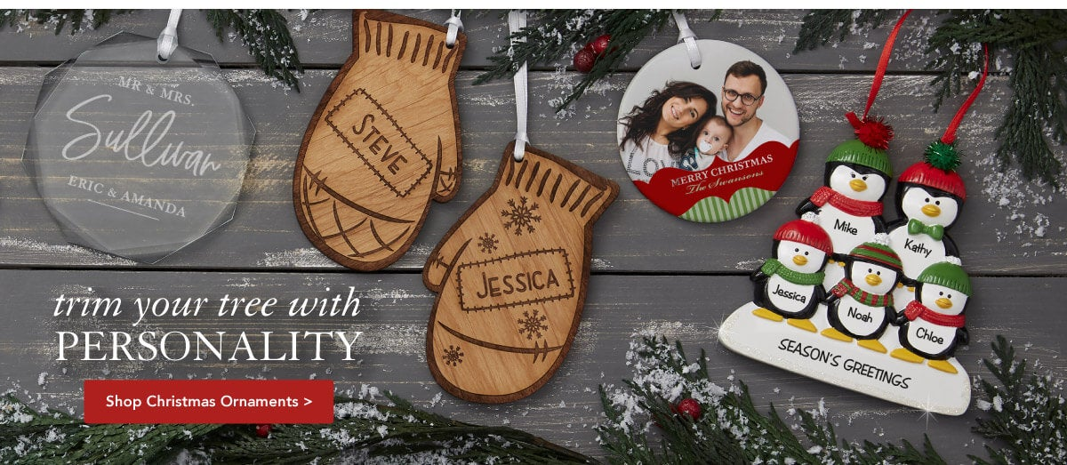 gifts personalized ornaments christmas mall personalization
