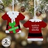 2-Sided Santa T-Shirt Ornament