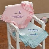Personalized Embroidered Logo Baby Blanket