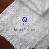 Personalized Custom Logo Embroidered Afghan Blanket - 10009