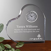 Personalized Corporate Engraved Logo Acrylic Clock - 10010