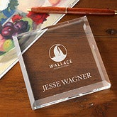 Personalized Corporate Engraved Logo Crystal Plaque
