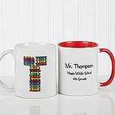 Personalized Coffee Mugs for Teachers - Crayon Letter - 10034