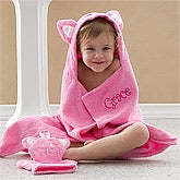 Kitty Love Personalized Towel and Mitt