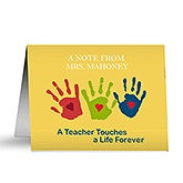 Personalized Teacher Note Cards - Touches a Life - 10037