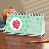 Personalized Teachers Desk Calendar - Apple - 10038