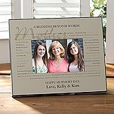 Personalized Picture Frames for Mothers - Blessing Beyond Words - 10040