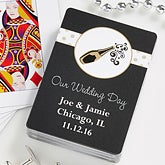 Personalized Wedding Favor Playing Card Deck - Champagne Toast - 10057