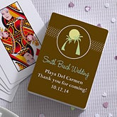 Personalized Wedding Favor Playing Cards - Palm Trees - 10058