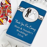 Personalized Playing Card Wedding Favors - Bride & Groom - 10059