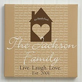 Home Is Where The Heart Is Personalized Canvas Print