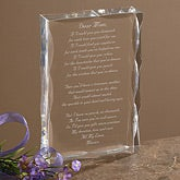 Personalized Poem Gift Sculpture With Mother Poem - 1008
