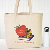 Personalized Teacher Tote Bags - Teddy Bear - 10083