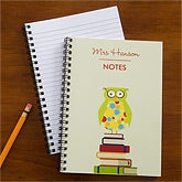Personalized Notebooks for Teachers - Wise Owl - 10094