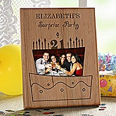 Birthday Cake© Engraved Cut-Out Frame