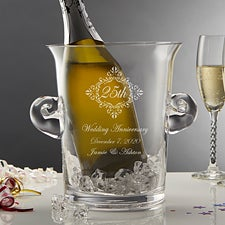 Personalized Anniversary Glass Wine Chiller & Ice Bucket - 10104