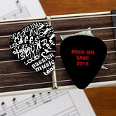 Custom Guitar Picks - Rock On - 10107
