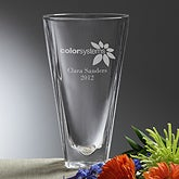 Personalized Corporate Engraved Logo Crystal Vase - 10108