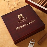 Personalized Corporate Engraved Logo Humidor - 10123