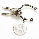 Custom Logo Keychain - Engraved Corporate Logo - 10137