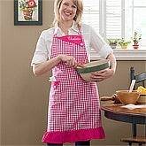 Cheerful Checks© Embroidered Gingham Apron