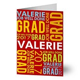 Personalized Graduation Greeting Cards - Job Well Done - 10159
