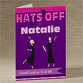 Hats Off To The Grad!© Personalized Greeting Card