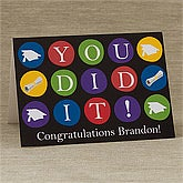 You Did It!© Personalized Greeting Card