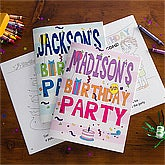 Personalized Coloring Books - Birthday Party Fun - 10197