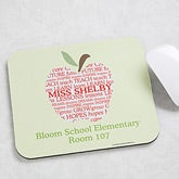 Personalized Teacher Mouse Pads - Apple - 10202