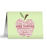 Personalized Note Cards for Teachers - Apple - 10203