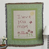 Personalized Mother's Day Afghan - I Love You Mom - 10214