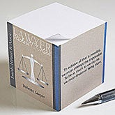 Personalized Note Pads for Lawyers - Scales of Justice - 10225