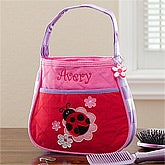 Personalized Girl's Ladybug Purse & Coin Purse Set - 10227