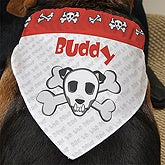 Personalized Dog Bandanas - Bad To The Bone - 10231
