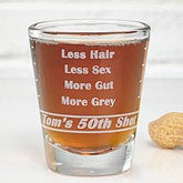 Personalized Shot Glasses - Birthday Troubles - 10237