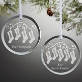 Personalized Ornaments - Family Christmas Stockings - 10238