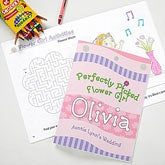 Perfectly Picked Flower Girl© Personalized Coloring Activity Book & Crayon Set