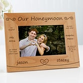 Personalized Honeymoon Picture Frames - Our Honeymoon - 10254