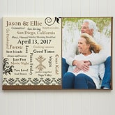 Personalized Wedding Anniversary Photo Canvas Art - Our Life Together - 10255