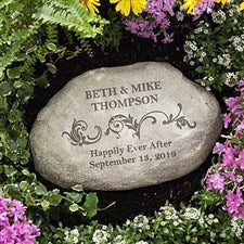 Personalized Decorative Garden Stones - Loving Couple - 10256