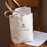 Personalized Corporate Embroidered Logo Canvas Tote - 10274