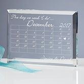 Wedding Calendar Personalized Wedding Keepsake - 10302