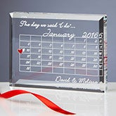 Wedding Calendar Personalized Wedding Keepsake - 10302