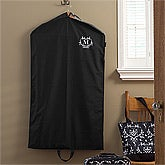 Personalized Garment Bag - Embroidered Damask Monogram - 10322