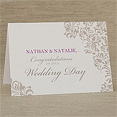 Personalized Wedding Greeting Cards - Your Wedding - 10333
